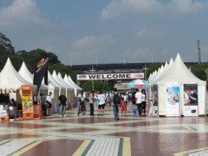 Acara tenda kerucut untuk Bazar