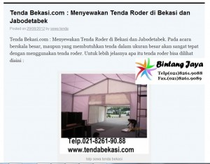 Rental tenda Kerucut / Tenda Romawi