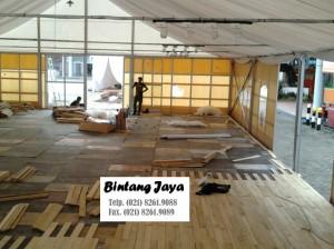 Rental Tenda-flooring dengan menggunakan KAYU