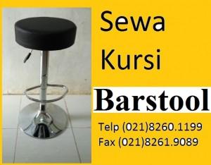 SEWA kursi bar warna hitam bulat